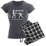 Beware of Short Fencers Women's Charcoal Pajamas