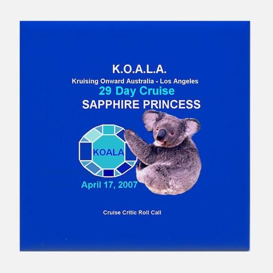 Sapphire KOALA 2007- Tile Coaster
