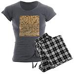 Matzah Women's Charcoal Pajamas