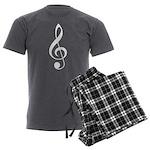 Music Treble Clef Plaid Mens Pajamas
