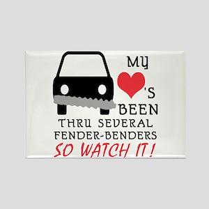 HEART FENDER BENDERS Rectangle Magnet