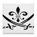 Fleur De Lis Pirate Tile Coaster