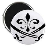 Fleur De Lis Pirate Magnet