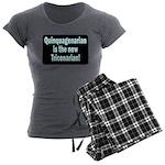 50th Birthday Women's Charcoal Pajamas