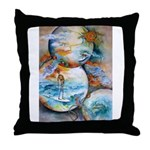 Cosmic Surfer Throw Pillow