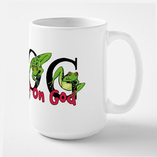 FROG: Fully Rely on God Large Mug
