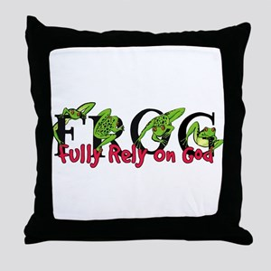 FROG: Fully Rely on God Throw Pillow