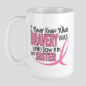 Bravery (Sister) Breast Cancer Awareness Large Mug