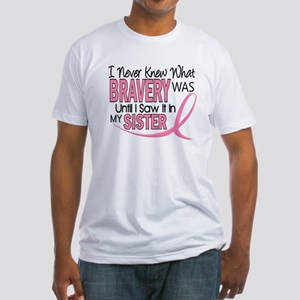 Bravery (Sister) Breast Cancer Awareness Fitted T-