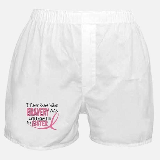 Bravery (Sister) Breast Cancer Awareness Boxer Sho