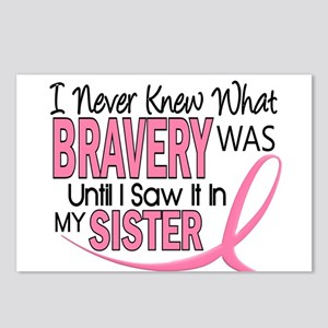 Bravery (Sister) Breast Cancer Awareness Postcards