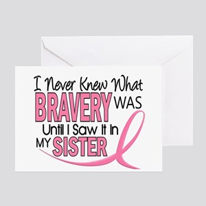 Bravery (Sister) Breast Cancer Awareness Greeting