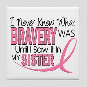 Bravery (Sister) Breast Cancer Awareness Tile Coas