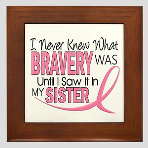 Bravery (Sister) Breast Cancer Awareness Framed Ti