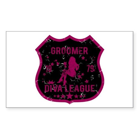 Groomer Diva League Rectangle Sticker
