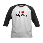 I Love My City Kids Baseball Jersey
