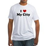 I Love My City Fitted T-Shirt