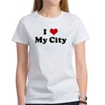 I Love My City Women's T-Shirt