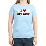 I Love My City Women's Light T-Shirt
