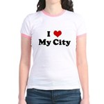 I Love My City Jr. Ringer T-Shirt