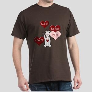 Valentine Cat Dark T-Shirt