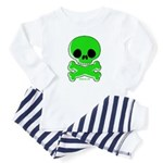 green skull Baby Pajamas
