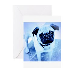 Le Pug Greeting Cards (Pk of 10)