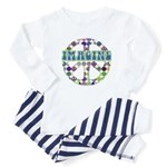 Retro Peace Sign Imagine Infant Bodysuit