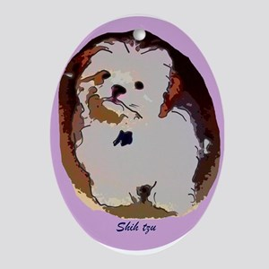 Shih Tzu Puppy Oval Ornament