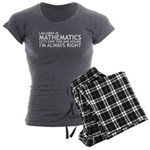 I Majored In Mathematics Women's Charcoal Pajamas