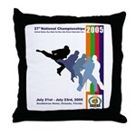 2005 Nationals Throw Pillow