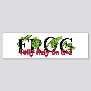 FROG: Fully Rely on God Bumper Sticker