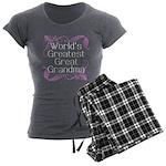 World's Greatest Great Grandma Women's Dark Pajama