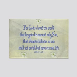 John 3:16 Dogwood Magnets