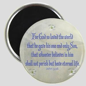John 3:16 Dogwood Magnets