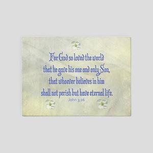 John 3:16 Dogwood 5'x7'Area Rug