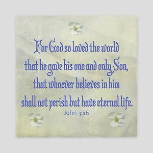 John 3:16 Dogwood Queen Duvet