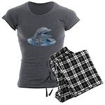 Happy Dolphin Women's Charcoal Pajamas