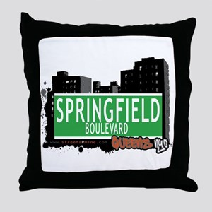 SPRINGFIELD BOULEVARD, QUEENS, NYC Throw Pillow