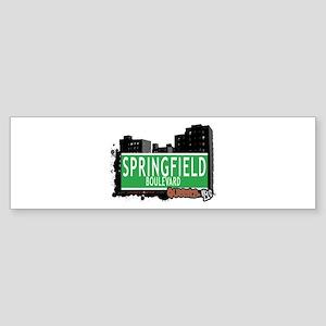 SPRINGFIELD BOULEVARD, QUEENS, NYC Sticker (Bumper