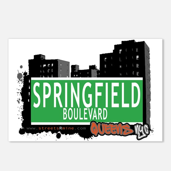 SPRINGFIELD BOULEVARD, QUEENS, NYC Postcards (Pack
