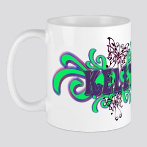 Kelly's Butterfly Name Mug