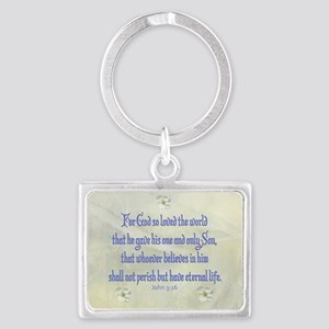 John 3:16 Dogwood Keychains