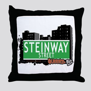 STEINWAY STREET, QUEENS, NYC Throw Pillow