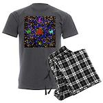 Science Pyramid Graphic Men's Charcoal Pajamas