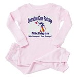 OCP Michigan Baby Pajamas