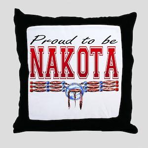 Proud to be Nakota Throw Pillow
