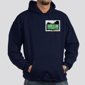 RIKERS ISLAND STREET, QUEENS, NYC Hoodie (dark)