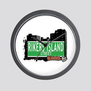 RIKERS ISLAND STREET, QUEENS, NYC Wall Clock