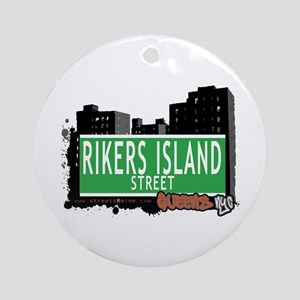 RIKERS ISLAND STREET, QUEENS, NYC Ornament (Round)